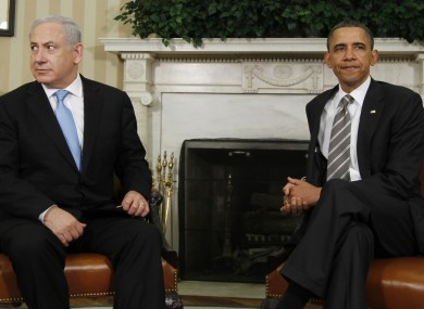 Benjamin Netanyahu and Barack Obama on Friday.