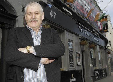 John Stokes outside his pub in Fairview near Dublin city centre in April.