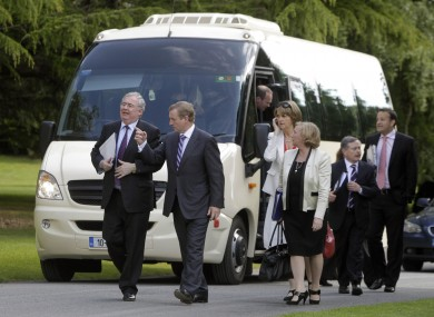 We're all going on a summer holiday: Ministers take the bus earlier this year