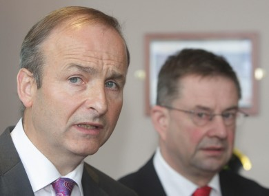 Micheál Martin and Éamon Ó Cuív (File photo)