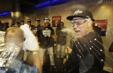 Yankees celebrate with AL East title in the bag