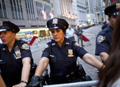 NYPD officers at the Occupy Wall Street protests.