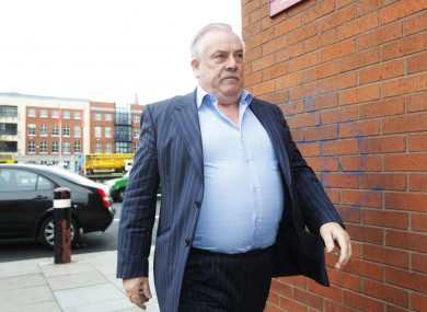 Thomas McFeely, the developer of the 187 apartments at Priory Hall, arriving at the High Court in October
