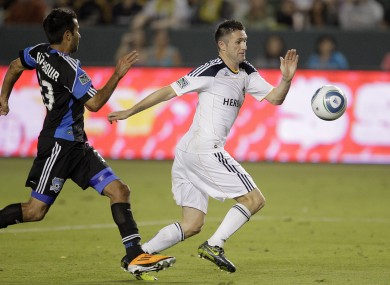 Keane in action for the Galaxy earlier this season.