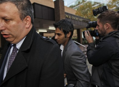 Pakistani former Test captain Salman Butt leaves the Southwark court in London yesterday.
