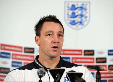 The FA have not allowed Terry to answer questions about the racism allegations.