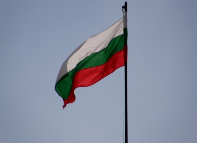 The national flag of Bulgaria