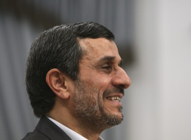 Iranian president Mahmoud Ahmadinejad: the new Iranian missile is an upgrade of an older one with a 200km range.