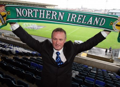 O'Neill was unveiled at Windsor Park today.