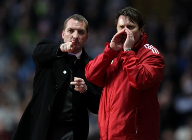 Brendan Rodgers travels to Bolton