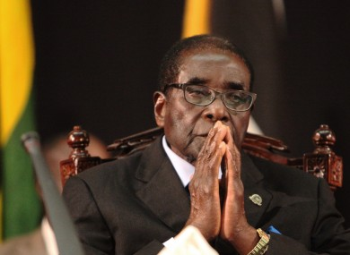 Robert Mugabe pictured in Harare earlier this month