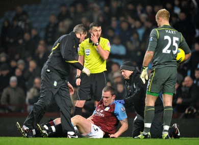 Worryingly for Villa and Ireland, Richard Dunne was taken off late in the game with a shoulder injury.