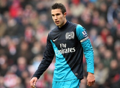 Man on a mission: Van Persie