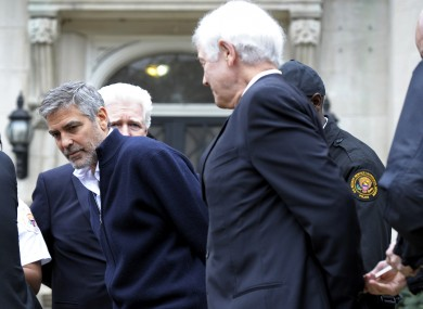 Actor George Clooney who was arrested and later released for protesting at the Sudanese Embassy in Washington.