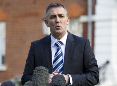 Owen Coyle outside the London Chest Hospital.