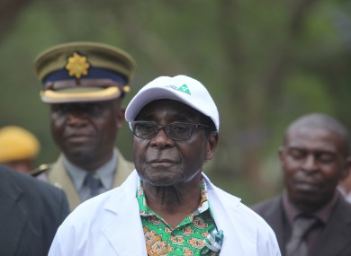 Mugabe pictured in December