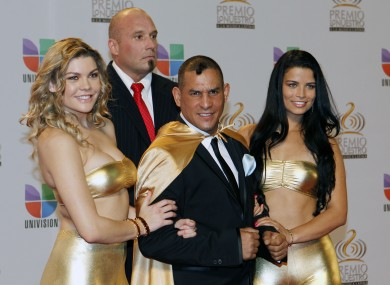 File photo of boxer Hector Macho Camacho at a Miami music awards show last month.
