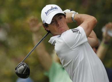 Rory McIlroy: back at Augu