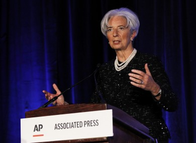 Christine Lagarde speaking in Washington today