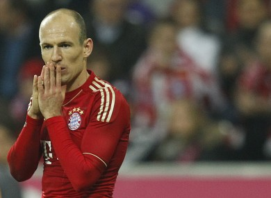 Arjen Robben: attacking threat.