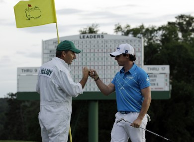 McIlroy and caddie JP Fitzpatrick happy with a job well done in the end.