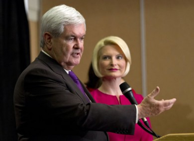 Newt and Callista Gingrich.