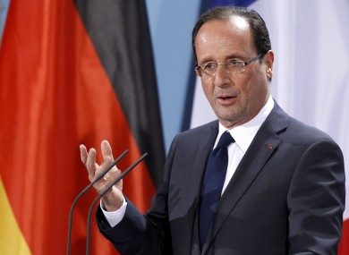Francois Hollande in Berlin on Tuesday