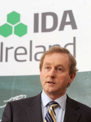 File photo of Enda Kenny at a previous IDA jobs announcement