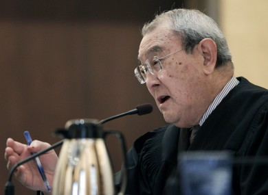 Judge Wallace Tashima speaks during arguments in February's hearing on the constitutionality of 'Prop 8', California's constitutional ban on gay marriage.
