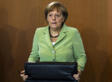 Angela Merkel has today affirmed that Spain will not be able to access EU funding until it specifically asks for it.