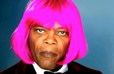 Video: Samuel L Jackson sings and bops in a pink wig
