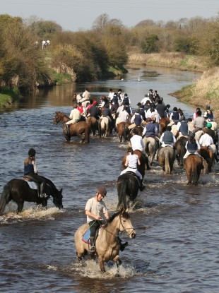 Riders from the North Kildare on the last hunt of the season in 2010.