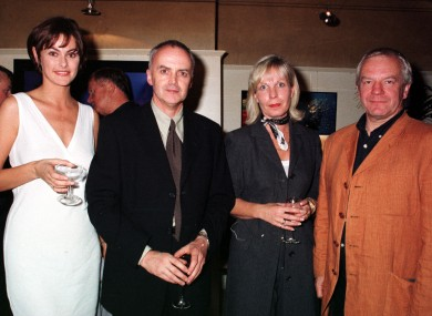 Norman Hewson, far right, at Tosca in 1997. With him are model Lisa Cummins, Eddie Shanahan and Gwen Chapple at the launch of their Morgan the Agency model agency.