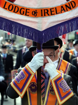 File photo of an Orange Order member.