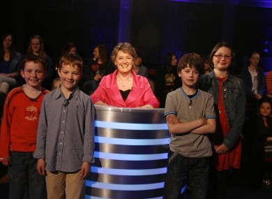 Presenter Nora Owen and last night's contestants