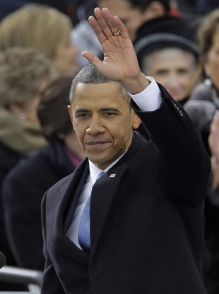 US President Barack Obama at today's inauguration.