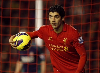 Suarez shone for Liverpool again last night.