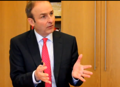 Micheál Martin speaking to TheJournal.ie today