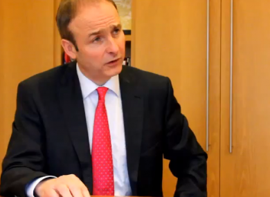 Micheál Martin speaking to TheJournal.ie this week