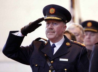 Garda Commissioner Martin Callinan at the Garda reserve graduation ceremony yesterday.