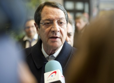 Nicos Anastasiades speaks with the media after an emergency eurogroup meeting in Brussels last Monday morning, which saw ministers sign off on a €10 billion loan to Cyprus.