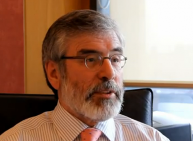 Gerry Adams speaking to TheJournal.ie this week