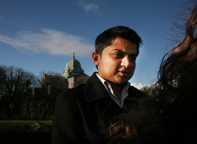 Praveen Halappanavar - seen her after a preliminary inquest into his wife Savita's death - has continued his calls for a public inquiry into the events at UHG.