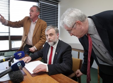 SIPTU president Jack O'Connor at a press conference yesterday, after SIPTU - the country's largest union, which had recommended a Yes vote - announced that its members had rejected the Croke Park 2 deal.