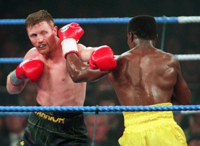Steve Collins in his pomp, against Chris Eubank, 18 years ago.