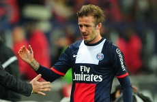 Tears, cheers, bumps and trophies as Beckham says his final goodbye