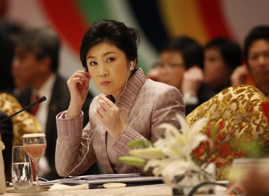 Thailand's prime minister Yingluck Shinawatra is the sister of the exiled former PM Thaksin Shinawatra.