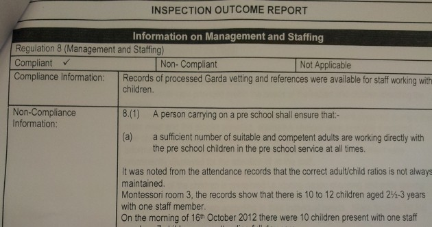 HSE: 'Creche breached child-adult ratio – we marked it compliant by accident'