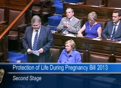 Health Minister James Reilly in the Dáil this morning