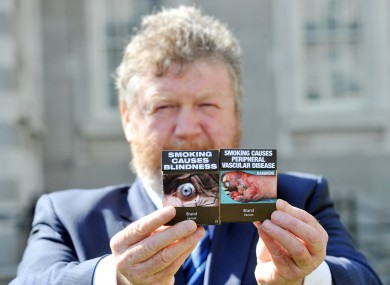 James Reilly launches the plain packaging plan earlier this year